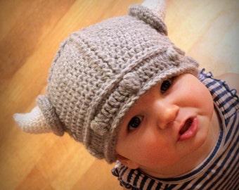 Crochet Pattern - Lael Viking Hat - All Sizes