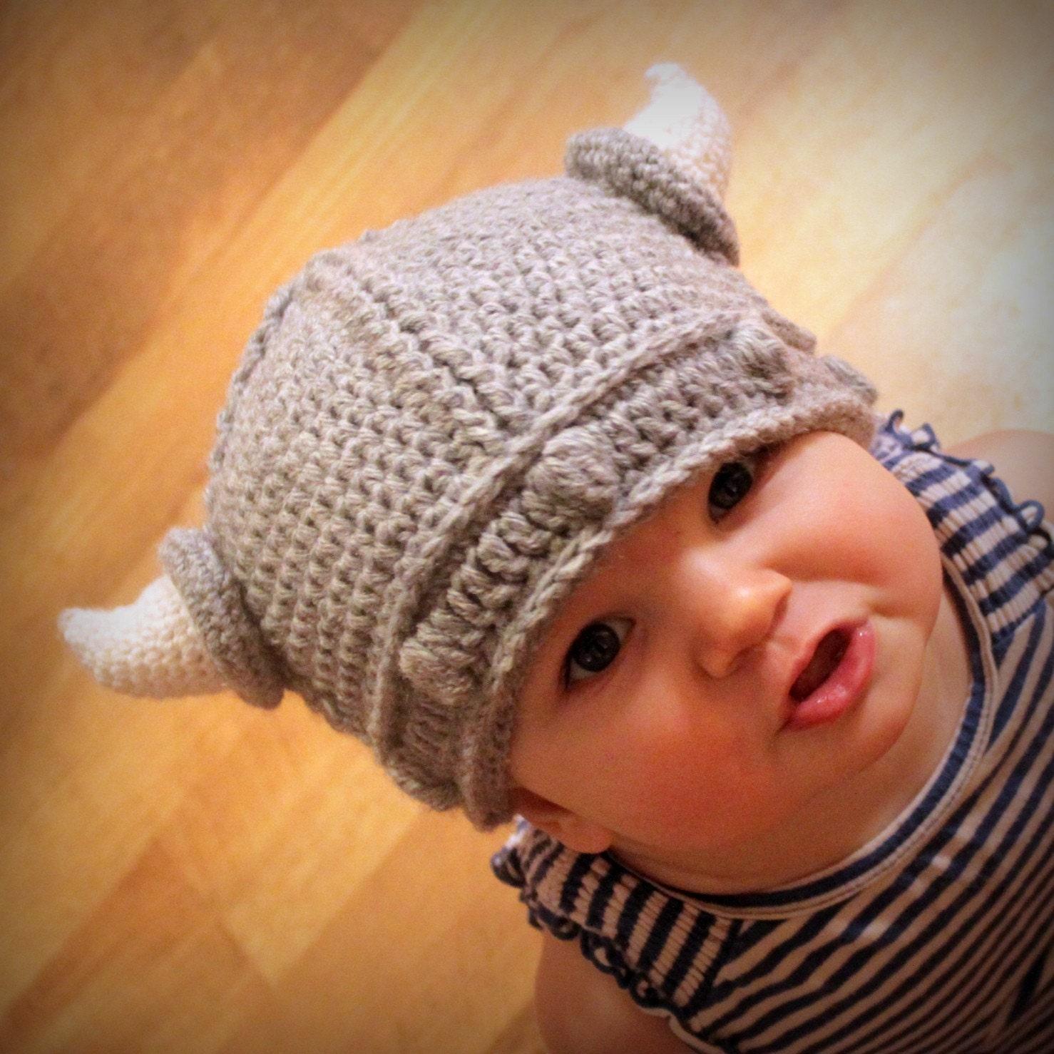 Crochet Pattern Lael Viking Hat All Sizes