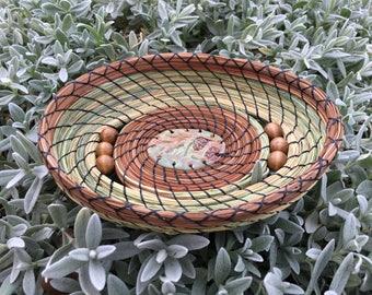 Oval Pine Needle Basket 17-44