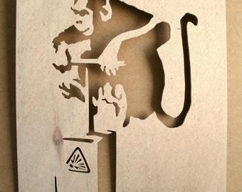 Banksy Monkey Detonator Stencil