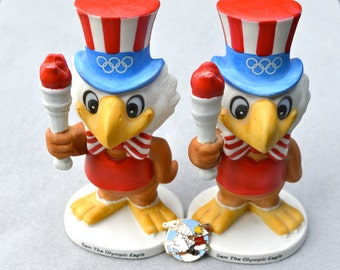 Olympic Eagle Sam 1980 L.A. Olympics Mascot Figurine & Pin Buy 1 or Both, Only 1 Figurine Available