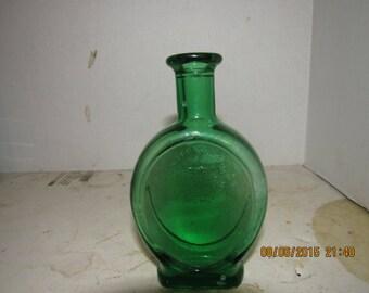 1880-90's Emerald Green United Drug Co (Medical Cross) Boston, Mass Fancy 5 3/4 inch medicine bottle