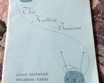 Vintage Pamphlet This Knitting Business