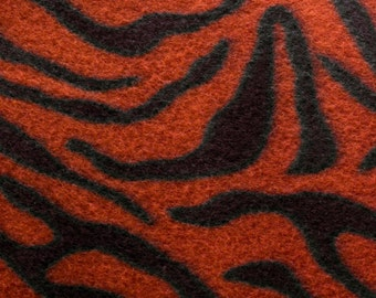 Tiger Animal Print Fleece Fabric by the yard