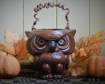 Halloween Owl Bucket