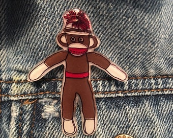 Sock Monkey, Brown.