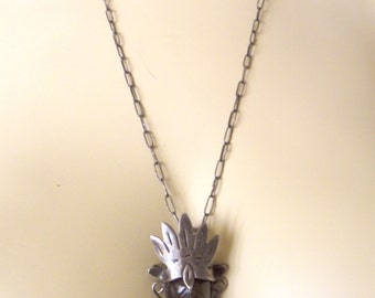Silver Warrior Pendant Necklace Plata 925