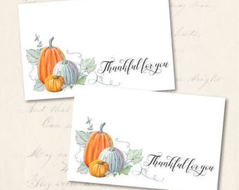 Thanksgiving Place Cards, Printable Place Cards, Tented and Flat Thanksgiving Place Cards, Pumpkin Place Cards, Instant Download