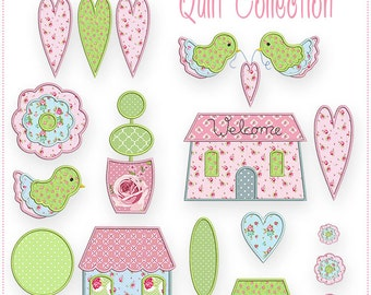 Cottage Sampler Quilt Collection - Machine Embroidery Files