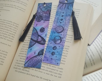Beautiful Handmade Galaxy Map Mandala Bookmark