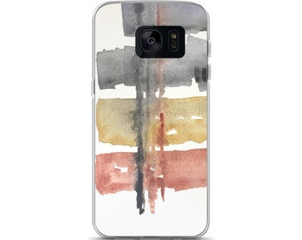 Modern phone case, Samsung Galaxy S7, S7 Edge, Samsung Galaxy S8, S8+, Abstract phone cover, watercolor cell case, artsy phone case