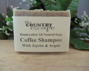 Coffee Shampoo Bar - Great Lather - Handcrafted - Organic - Vegan - Natural Soap - Paraben Free