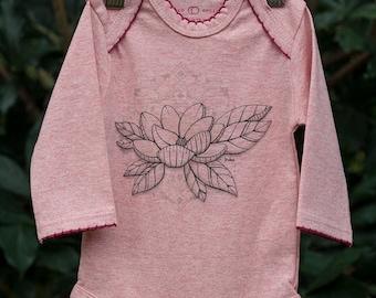 0-3 Months Organic Babies Long Sleeve Grow Suit - Magnolia