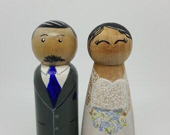 Custom Wedding cake topper/ hand painted cake topper