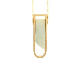 Amazonite Stone Horseshoe Necklace