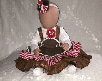Christmas Outfit/Gingerbread Man Costume/Christmas Dresses/Christmas Socks