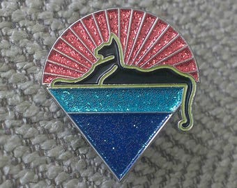 Cats Down Under the Stars Pin
