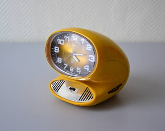 Vintage radio clock Japy transistor / space age 70s