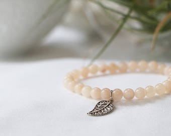 Matte Rose Quartz Mini Stacker Bracelet