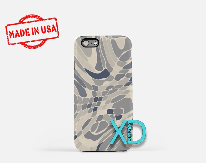 Gray Mosaic iPhone Case, Gray Swirl iPhone Case, Mosaic iPhone 8 Case, iPhone 6s Case, iPhone 7 Case, Phone Case, iPhone X Case, SE Case