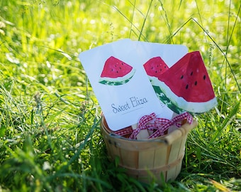 Watermelon Picnic Collection: Printable Fans