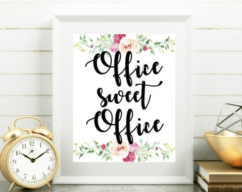 office wall decor. Delighful Wall Office Printables Sweet Office Cubicle Decor Floral Wall  Shabby Chic 8x10 Print Art Intended Wall Decor