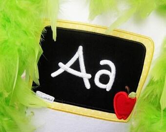 Chalkboard Shirt, Chalkboard Applique, Back to School Shirt, Chalk, Chalkboard, Back to School Applique