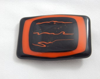 Vintage Custom Made Glass Belt Buckle