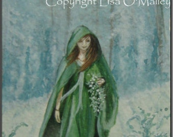 "Aceo Print ""Gathering"" Druid"