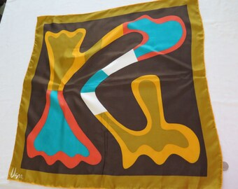 Vintage Vera Neumann Silk Square Scarf