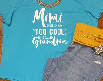Mimi t-shirt, Mother's Day, Grandmother