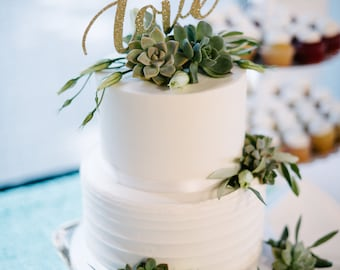 Love wedding cake topper, Wedding Cake Topper, Wedding, Wedding Cake, Love, Cake Topper, Wedding Decor, Decorations, Party decorations