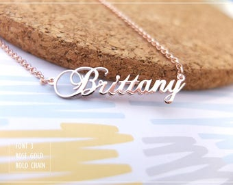 Name Necklace-Custom Name Necklace-Personalized Name Necklace-Custom Name Gift-Your Name Necklace-Bridesmaids Jewelry-Children Names #NF03
