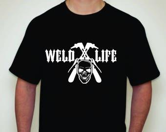 Weld Life Skull T-shirt-Welders Life T-shirt-Welders T-Shirt-Welder Gift