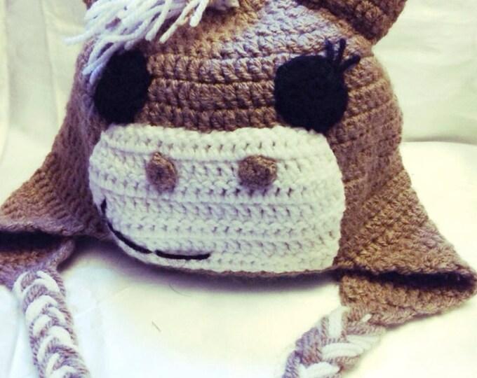 "Peruvian ""horse"" crocheted hat in acrylic"