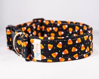 CLEARANCE! 50% off Candy Corn Dog Collar//Halloween Dog Collar//Dog Collar Halloween//Holiday Dog Collar//Fall Dog Collar