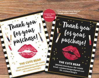 LipSense Thank You Card, LipSense Card, SeneGence International, LipSense Marketing, Distributor