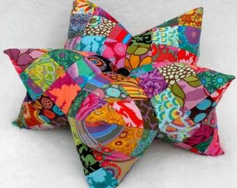Star Pillow Pattern, Star Pincushion Pattern, Patchwork Star Pattern, Patchwork Star Cushion Pattern, Harlequin Star, 3D Star Softie, Kaffe