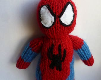Spiderman Knitted Doll
