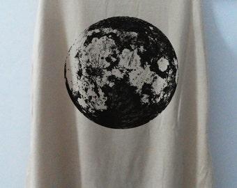Full Moon Shirt Moon Vintage Tank Top Art  T-Shirt Galaxy Shirt Shirt Women Shirt  Women T-Shirt Tunic Top Vest Sleeveless Size S,M,L
