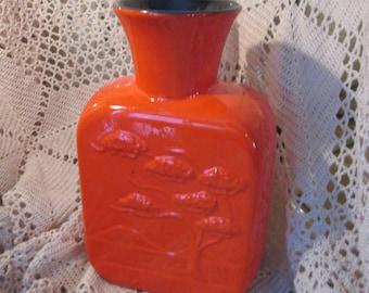 Vintage Frankoma Red Flambe Vase by Joneice Franks