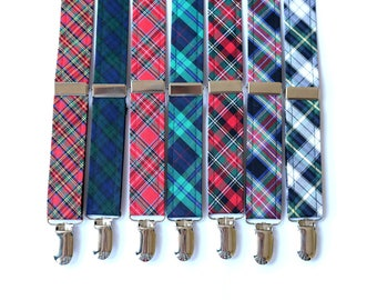Boys Tartan Suspenders~Wedding Suspenders~Wedding Accessory~Boys Suspenders~Boys Suspender