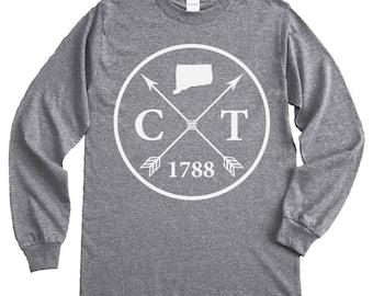 Homeland Tees Connecticut Arrow Long Sleeve Shirt