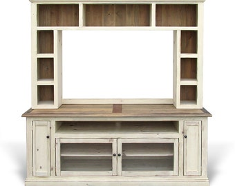 Media Console, Entertainment Center, Reclaimed Wood, TV Stand, Console Table, Hutch, Handmade