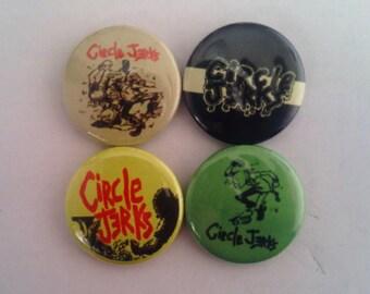 "4 x Circle Jerks 1"" Pin Button Badges ( hardcore punk rock america music)"