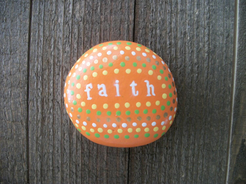 Faith bible verse stone christian gifts prayer stone zoom negle Images