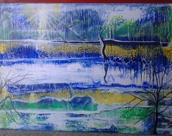 Magic Moment: Original Painting, Acrylic Painting, Large Canvas,