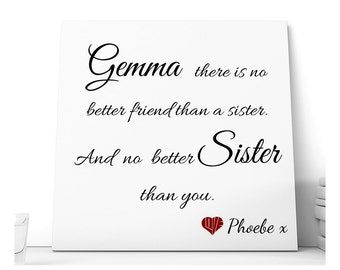 Personalised Sister Ceramic Plaque.