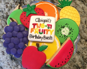 Two-ti-fruity birthday cookies