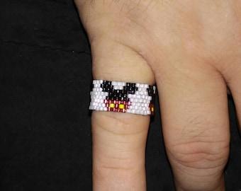 Handmade Beaded Mickey Mouse Ring